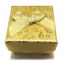 CCI-B-04 - Cutie cadou aurie cu flori pentru inel 4.3*3.2cm