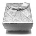 CCI-B-05 - Cutie cadou argintie cu flori pentru inel 4.3*3.2cm