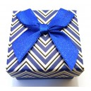 CCI-G-03 - Cutie cadou albastra model zigzag pentru inel 5*4cm