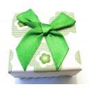 CCI-H-01 - Cutie cadou flori verzi pentru inel 5*4cm