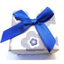 CCI-H-02 - Cutie cadou flori albastre pentru inel 5*4cm