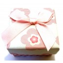 CCI-H-04 - Cutie cadou flori roz pentru inel 5*4cm