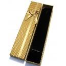 CCC-B-01 - Cutie cadou mustar cu picatele pentru colier/bratara/ceas 21*4.2*2.2cm