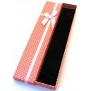 CCC-B-04 - Cutie cadou roz cu picatele albe pentru colier/bratara/ceas 21*4.2*2.2cm