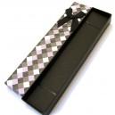 CCC-F-01 - Cutie cadou neagra cu romburi pentru colier/bratara/ceas 20*4.1*2.4cm