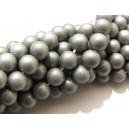 PSS-8mm-02 - Perle sticla sidefate argintii sfere 8mm