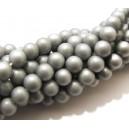 PSS-6mm-02 - Perle sticla sidefate argintii sfere 6mm