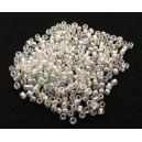 MN2mm-57 - (25 grame) Margele nisip clear efect AB 2mm