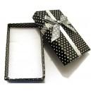 CCS-D-01 - Cutie cadou neagra cu picatele albe pentru set 8*5*2.5cm