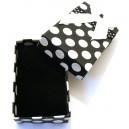 CCS-G-02 - Cutie cadou neagra cu picatele albe pentru set 8*5*2.7cm
