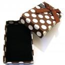 CCS-G-04 - Cutie cadou maro cu picatele albe pentru set 8*5*2.7cm