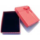 CCS-K-01 - Cutie cadou rosie cu picatele pentru set 9*7*2.6cm
