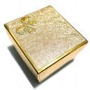 CCC-K-01 - Cutie cadou aurie cu pernita pentru ceas/bratara 9*8.3*5.5cm