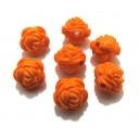 Margele acril trandafir portocaliu 12*12mm - STOC LIMITAT!!!