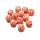Margele acril trandafir roz corai 8*6.5mm - STOC LIMITAT!!!