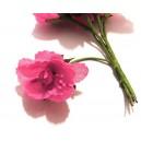 FLO08 - Flori artificiale roz fucsia 3-4cm/7.5cm