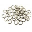 ZA26 - (100 buc.) Zale argintiu inchis 7*1mm
