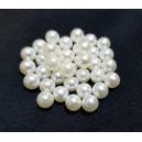 PAFG03 -  (10 buc.) Perle acril fara gaura ivory sfere 6mm