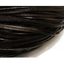SPN2mmplat-01 - Snur piele naturala plata maro inchis 2mm