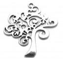 CP561 - Pandantiv copacul vietii argintiu antic 42*38mm