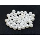 PAFG07 -  (10 buc.) Perle acril fara gaura alb usor ivory sfere 6mm