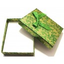 CCS-J-04 - Cutie cadou verde cu flori pentru set 9.3*7.2*2.9cm