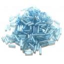 MT-34 - (19 grame) Margele nisip tub bleu cu miez argintiu 6mm