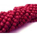 MFS621 - Cristale rosii sfere fatetate 6mm
