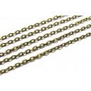 LB05 - (1 metru) Lant bronz antic 3*2*0.6mm - zale plate