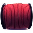 SFS3mm-53A - (1 metru) Snur faux suede rosu rece 3mm