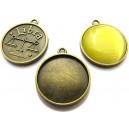 BC140 - Baza cabochon zodia balanta bronz antic 32*28mm/25mm