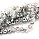 MFS635 - Cristale clear si argintiu sfere fatetate 6mm