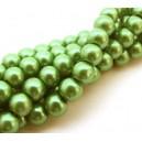 PS8mm-51 - (10 buc.) Perle sticla verde iarba sfere 8mm