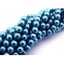 PS6mm-59 - (10 buc.) Perle sticla albastre sfere 6mm