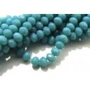 MFR694 - Cristale albastru teal opac rondele fatetate 6x4mm