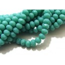 MFR697 - Cristale verde turcoaz opac rondele fatetate 6*4mm