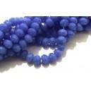 MFR699 - Cristale albastru intens opac rondele fatetate 6*4mm
