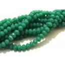 MFR723 - (10 buc.) Cristale verde cald opac rondele fatetate 4x3mm