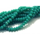 MFR724 - (10 buc.) Cristale verde turcoaz opac rondele fatetate 4x3mm