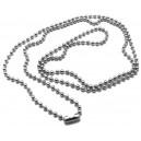 LO11 - Baza colier lant cu bile si inchizatoare otel inoxidabil 2.4mm/70cm