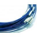 CSC30 - Colier sarma siliconata albastru royal 44cm