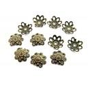 (10 buc.) Capacele filigranate bronz antic 10mm - STOC LIMITAT!!!