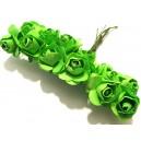 TRA13 - (12 buc.) Trandafiri artificiali verde crud 2.5cm/8cm