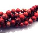 PSE199 - Regalite rosu crimson sfere 8mm