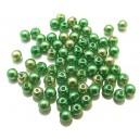 PS4mm-51 - (10 buc.) Perle sticla verde degrade sfere 4mm