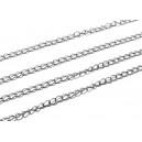 LO12 - (1 metru) - Lant otel inoxidabil argintiu inchis 3*2*0.4mm - zale rasucite