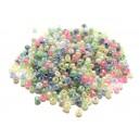 MN2mm-69 - (25 grame) Margele nisip Ceylon mixt 03 culori pale irizate 2mm