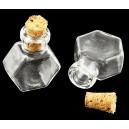 SDOP-10 - Sticla hexagon cu dop pluta 25*20mm