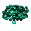 PAH-7MM-04 - (1.10 grame) Paiete hexagonale verde smarald 7mm