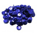 PAH-7MM-06 - (1.10 grame) Paiete hexagonale albastru cobalt 7mm